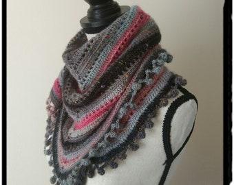 Crochet Scarf,Wool Cowl,Colored Scarf,Winter infinity Scarf,Winter gift,Single wrap neck warmer, crochet shawl, READY TO SHIP