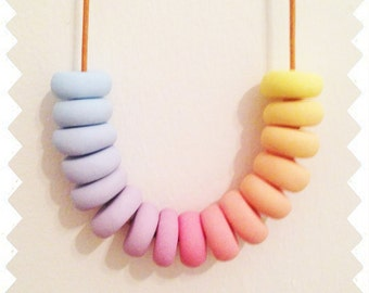 Sherbee - Polymer Clay Necklace
