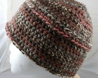 Browns and Pinks Beanie (large) (SWG-HBEN-L04)