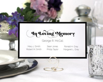 Romantic Memorial In Memory Card Custom Sign Wedding Printable Deco