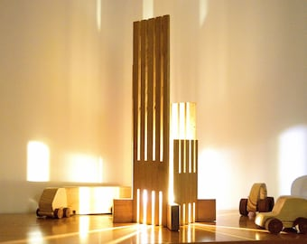 EBRINO Lamp in Sipo and Bamboo