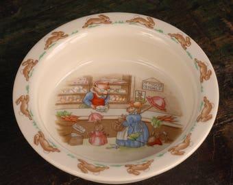 Royal Doulton Bunnykins Porridge Bowl - Mr. Piggly's Stores, England