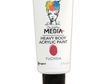 Dina Wakley Media Heavy Body Acrylic Paints - Fuchsia