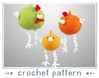 Hangers - Chickens - Crochet Pattern - PDF file - Amigurumi