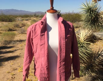 Pink Eddie Bauer Button Up Shirt