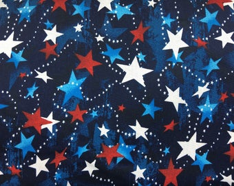 Patriotic fabric by the yard - American flag fabric - stars and stripes fabric - red white and blue fabric - #16477