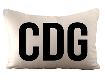 Airport Code - Customizable - Cushion Cover - 12x18