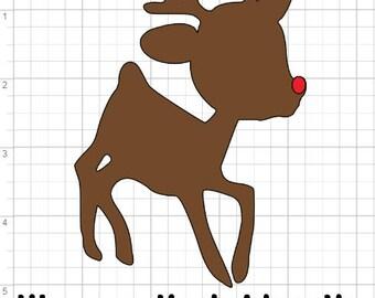 Iron On Heat Transfer Vinyl Christmas Decal - Rudolph