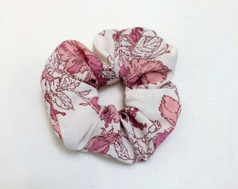flowered scrunchie