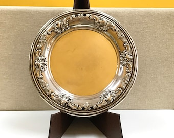 Vintage Grande Baroque By Wallace Sterling Silver  Bread And Butter Plate #4850-9   Free US Shipping!!!