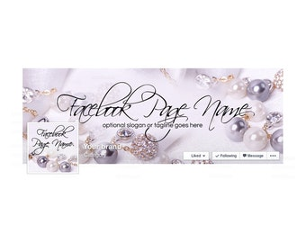 Timeline Cover and Profile Picture - Facebook Timeline Cover - Facebook Cover - Jewelry Facebook Cover -  Jewelry