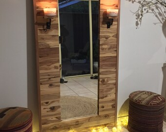 Unique hand-made full-length feature mirror made from eco-friendly cypress wood ON SALE!