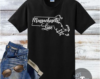 Massachusetts Love Handmade Shirt, Best Selling Items, Top Seller, Top Selling Item, Top Sellers, Top Selling, Massachusetts Item, SKU - 538