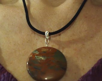 Silk cord with Stone Pendant