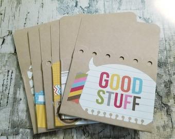 Pockets / Journal / scrapbook / calendar / Simple Stories - So Random / SNAP Studio Collection - 6pk 3 x 4   -