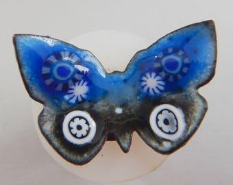 Enamel Butterfly Shank Button  2018 B-33, B-34