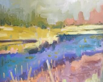 Original landscape painting, original painting, oil on panel, oil painting, landscape painting, impressionist painting