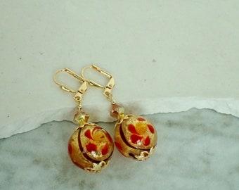 Murano Flower Earrings
