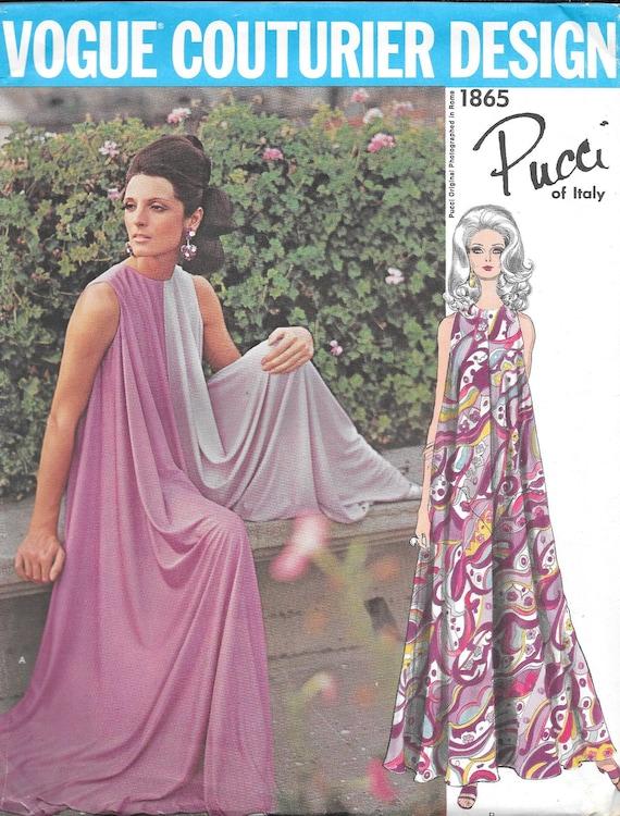1960s Pucci culotte pattern feat. Mirella Petteni Haggiag - Vogue Couturier Design 1865