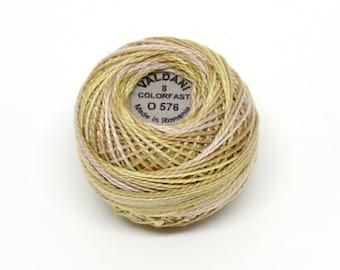 Valdani Pearl Cotton Thread Size 8 Variegated: #O576 Weathered Hay