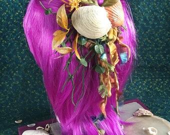 mermaid sea shell hair clip- mermaid collection, shell hair clip, mermaid accessories, costume, beach fantasy