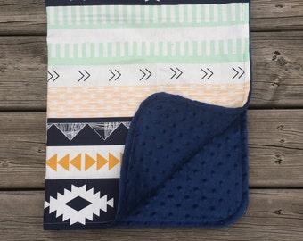 Baby Minky Blanket , Baby Blanket, Crib Blanket