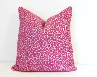 Hot Pink Cheetah Print Pillow Cover-Fuchsia Leopard Print Pillow Cover-Animal Print Pillow Cover-Cheetah Print Pillow-Pink Pillow