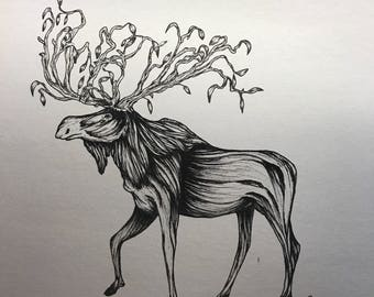 Tree moose print
