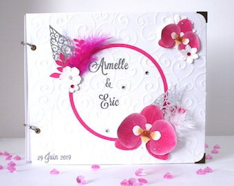 Romantic gold orchid book