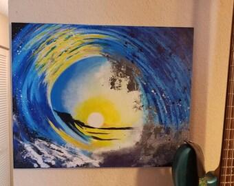Sunrise/Sunset Surf Painting - 20x16