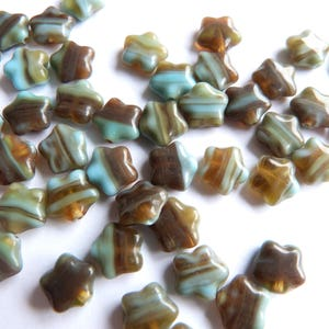 Jewellery Making Czech Pressed Glass Beads 8mm Stars - Choose your colour - 30 beads loose