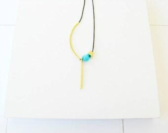 Brass Pendant Necklace-Pendant Gold-Gold Geometric Pendant Necklace-Contemporary Pendant Necklace-Contemporary Jewelry-Modern Pendant