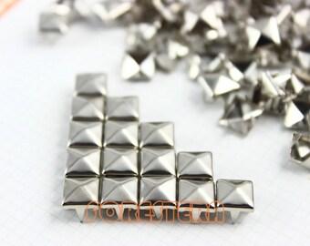 7mm Silver Pyramid Stud Punk Rock Leathercraft Stud (SP07)