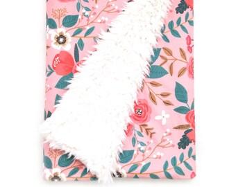 Baby Blanket Coral Bramble. The Cloud Blanket. Faux Fur Baby Blanket. Minky Baby Blanket. Floral Baby Blanket. Coral Baby Blanket.