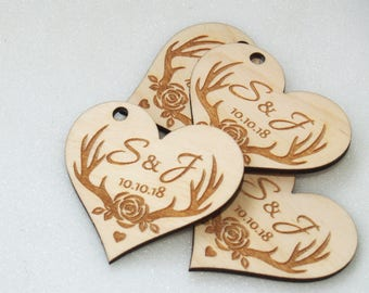 Wedding tags, Wedding favor, Wedding favor tags, Wedding favor rustic, Wedding rustic, Wooden tags, Thank you tags, Wood tags, Thank you tag