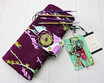 Circular Needle Case - Knitting Needle Case - Circular Needles - Needle Storage - Needle Organizer - Knitting Supplies - Joel Dewberry