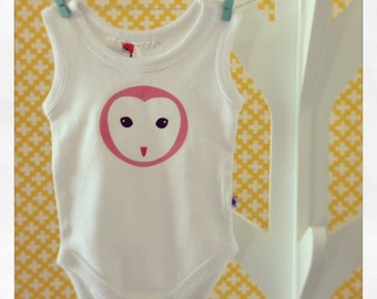 Pretty Owl Baby Romper - Sleeveless - Choose your size