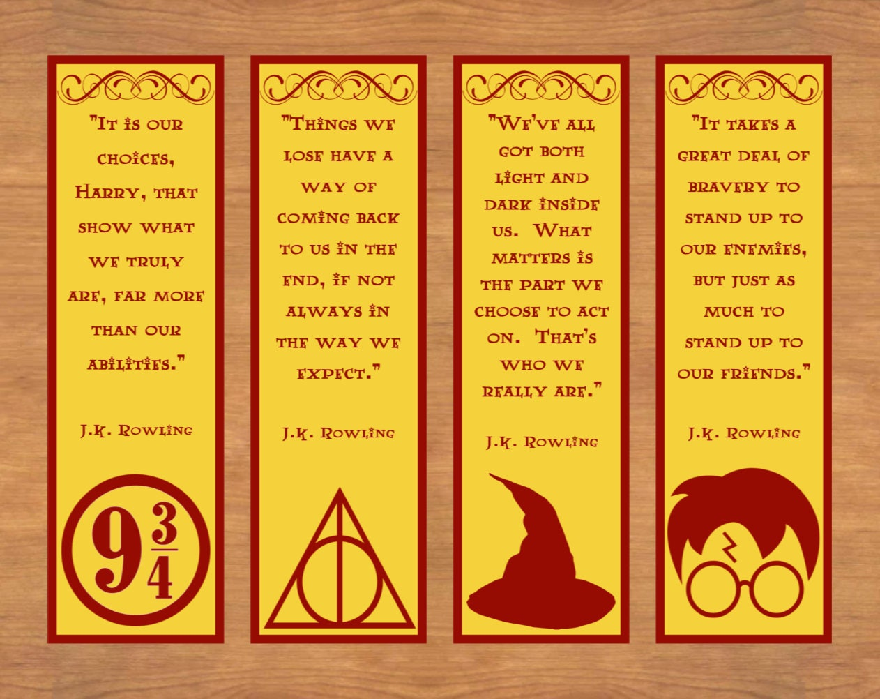 This is a photo of Delicate Harry Potter Bookmarks Printable