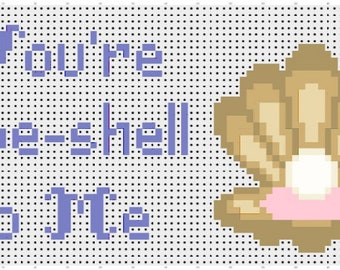 You're Spe-shell to Me - Cross Stitch Pattern (PDF Pattern)