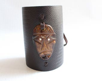 Leather cuff-Leather bracelet-Boyfriend gift--African bracelet-Maasai bracelet-Mens bracelet-African jewelry-Kenyan bracelet-Maasai jewelry