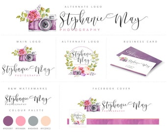 Branding Package, Photography Logo and Watermark Branding, Premade Marketing Package n002