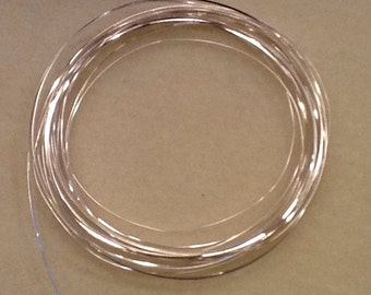 1/2 round wire 21ga non tarnish silver 4 yards