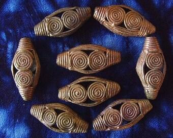 8 beads African brass BB30