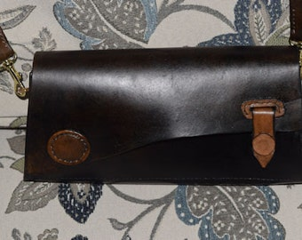Dark Brown Leather Hand Bag