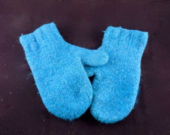 Hand Knit Felted Wool Mittens