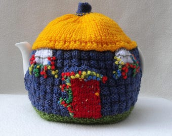 Knitted Tea Cosy English Thatched Cottage design Made in England