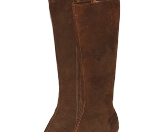 Vintage GO GO Boots Classic 1960's Brown Suede 8 Gogo