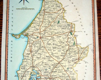 Antique (1803) Map of Dorsetshire England