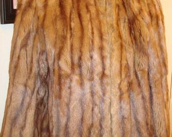 Mink jacket vintage 1940s big shoulder silhouette