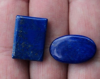 Lapis lazuli, set of 2 stones 7.7 g for jewellery, collection or Crystal healing.